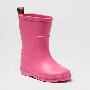 NWT Cirrus Kids Charley Tall Rain Boot Pink 9/10
